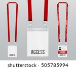 set of lanyard and badge.... | Shutterstock .eps vector #505785994