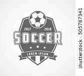 soccer 2017 2018 emblem flat... | Shutterstock .eps vector #505787341