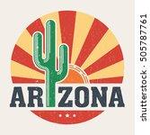 arizona t shirt design  print ... | Shutterstock .eps vector #505787761