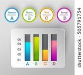 modern business steps to... | Shutterstock .eps vector #505791754