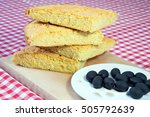 healthy meal with cornbread and ... | Shutterstock . vector #505792639