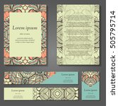 set of stylish business card...   Shutterstock .eps vector #505795714