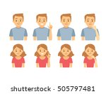 people 's emotions | Shutterstock .eps vector #505797481