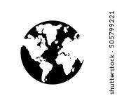 isolated planet sphere design | Shutterstock .eps vector #505799221