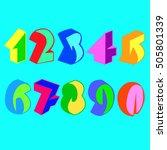 vector  modern  design  font ...   Shutterstock .eps vector #505801339
