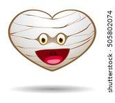 mummy halloween heart  vector... | Shutterstock .eps vector #505802074