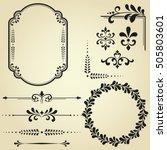 vintage set. floral elements... | Shutterstock .eps vector #505803601