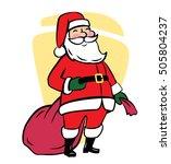 santa claus vector illustration ... | Shutterstock .eps vector #505804237