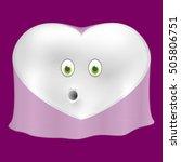 ghost halloween heart  vector...   Shutterstock .eps vector #505806751