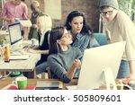teamwork together professional...   Shutterstock . vector #505809601
