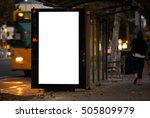 blank outdoor bus advertising... | Shutterstock . vector #505809979