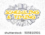 scheduling and timing   hand... | Shutterstock . vector #505810501
