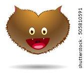 werewolf halloween heart ... | Shutterstock .eps vector #505810591