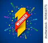 first winner  first place.... | Shutterstock .eps vector #505810771