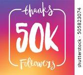 50 thousand followers online... | Shutterstock .eps vector #505823074
