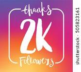 2 thousand followers online... | Shutterstock .eps vector #505823161