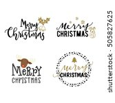 merry christmas hand drawn... | Shutterstock .eps vector #505827625