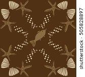 pattern of sea theme  halftone. | Shutterstock .eps vector #505828897
