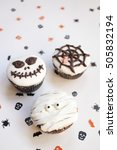 home made halloween spooky and... | Shutterstock . vector #505832194