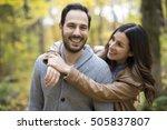 a nice couple having fun in... | Shutterstock . vector #505837807