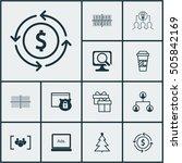 set of 12 universal editable... | Shutterstock .eps vector #505842169