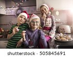 Children With Christmas Cookie...