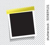 realistic vector photo frame on ...   Shutterstock .eps vector #505859131