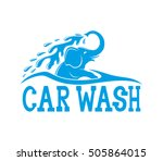vector sign. car wash. | Shutterstock .eps vector #505864015