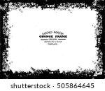 grunge frame   abstract texture.... | Shutterstock .eps vector #505864645
