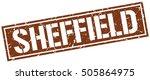 sheffield. grunge vintage... | Shutterstock .eps vector #505864975