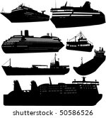 set of vector silhouettes of... | Shutterstock .eps vector #50586526
