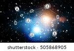 social network communication...   Shutterstock . vector #505868905