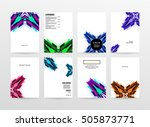 geometric background template... | Shutterstock .eps vector #505873771
