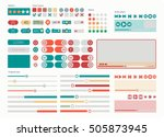 ui kit web elements flat design....