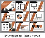 business template design set... | Shutterstock .eps vector #505874935