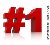 red number one sign isolated on ... | Shutterstock . vector #50587726
