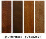 four colors of wood | Shutterstock . vector #505882594