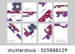 geometric background template... | Shutterstock .eps vector #505888129
