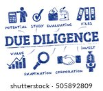 due diligence. chart with... | Shutterstock .eps vector #505892809