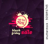 black friday sale banner or... | Shutterstock .eps vector #505893745