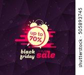 black friday sale banner or... | Shutterstock .eps vector #505893745