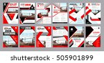 red business construction... | Shutterstock .eps vector #505901899