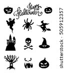halloween icon set | Shutterstock . vector #505912357