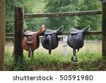 Leather Saddles Ready To Put O...