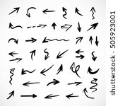 hand drawn arrows  vector set | Shutterstock .eps vector #505923001