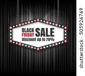 black friday sale retro sign.... | Shutterstock .eps vector #505926769