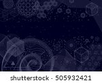 sacred geometry symbols and... | Shutterstock .eps vector #505932421