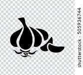 garlic  icon   Shutterstock .eps vector #505936744
