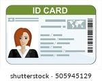 id card. flat design style | Shutterstock .eps vector #505945129