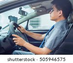 man driving car   Shutterstock . vector #505946575